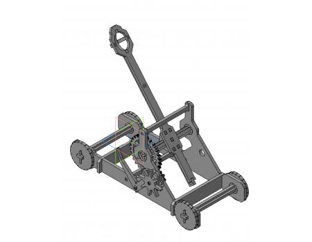 Механический конструктор из дерева Катапульта