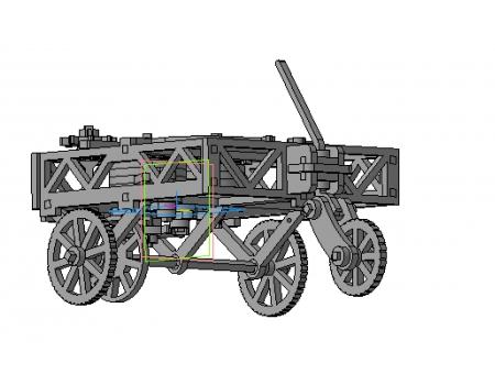 Механический конструктор из дерева Самодвижущаяся телега